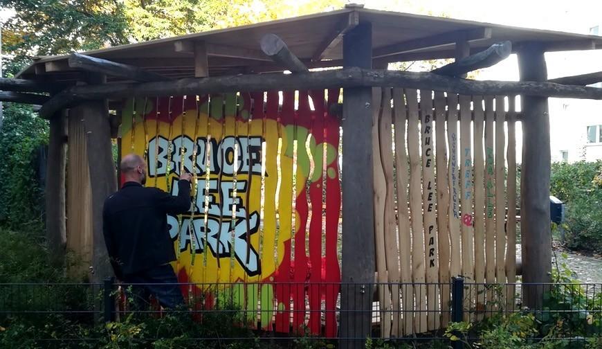 Verschönerungsaktion Bruce Lee Park (Berlin)