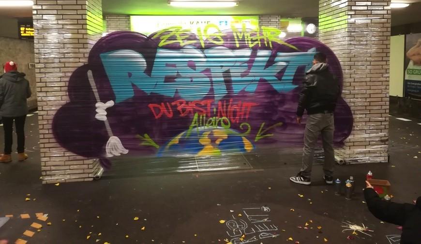 Respekt Aktion U-Bhf. Yorckstraße